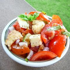 "Bruschetta Salad I ""Really liked this salad & will be making it again! A great salad for using summer tomatoes."""