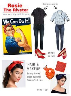 rosie the riveter halloween costume we can do it - Rosie The Riveter Halloween Costume