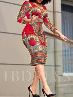 african dress styles Material: Polyester Silhouette: Bodycon Dress Length: Mid-Calf Sleeve Length: Three-Quarter Sleeve Sleeve Type: Regular Neckline: V-Neck Combination Type: Sin Best African Dresses, Latest African Fashion Dresses, African Attire, African Wear, Ankara Fashion, African Style, African Women, Traditional African Clothing, Shweshwe Dresses