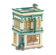 Department 56 Snow Village Jackie\'s Cards and Gifts Lit House, inch Christmas Village Collections, Christmas Village Houses, Christmas Village Display, Christmas Villages, Dept 56 Snow Village, Santa's Village, Christmas In The City, Christmas Home, Christmas Things