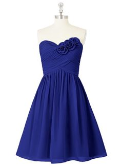 Love the rose detailing on this dress! Perfect for Beauty and the Beast theme bridesmaids' dresses.