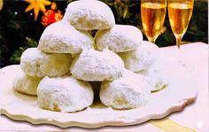 Cake Mix Cookie Recipes, Cake Mix Cookies, Snack Recipes, Cooking Recipes, Greek Sweets, Greek Desserts, Greek Recipes, Greek Cookies, Christmas Sweets