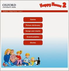"""Happy House, Nivel 2"" (Aplicación interactiva de Inglés de 2º de Primaria). Editorial Oxford."