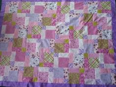 Trapunta culla viola rosa e verde di Twinkletoesnstardust su Etsy