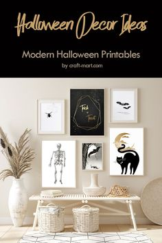 Are you looking for Halloween décor ideas on a budget? Cheap doesn't mean cheesy. We have a collection of modern and scary DIY Halloween decorations for your last minute decor. Trick or Treat? These Halloween decor ideas take almost no time! Just print and use any black frame to display your Halloween décor.