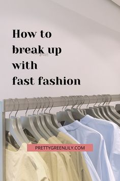 How can I quit fast fashion? If you have ever asked yourself this question, this post is for you. Fast fashion is terrible for the planet, for garment workers and, believe it or not, for consumers. Quitting fast fashion and moving towards slow fashion will allow you to find your very own style and start building your sustainable wardrobe full of gorg eco-friendly and ethical pieces #sustainableliving #sustainablefashion | via @prettygreenlily Fast Fashion, Slow Fashion, Fashion Tips, Wardrobe Basics, Capsule Wardrobe, Perfect Capsule, Green Living Tips, Second Hand Stores, I Quit