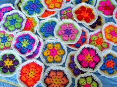 African flowers crochet. | Flickr - Photo Sharing!