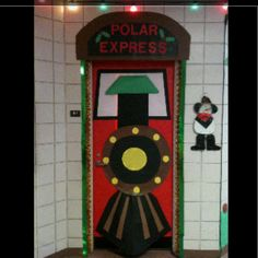 Isnt this an awesome door for the kiddos to walk through? I love this Polar Express themed classroom door.