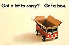 1960 Advertising postcard VW microbus