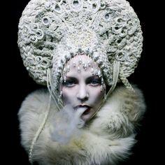 Photographer: Helen Warner Headpiece: Agnieszka Osipa #snow queen