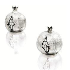 Pair of silver pomegranates, Buccellati