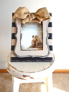 Chunky Stripe Frame by katieruebel on Etsy, $30.00