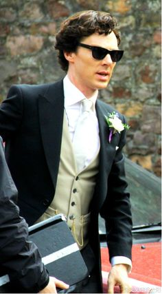 """""""Setlock, Sherlock.  Not only is me outrageously attractive here, but he's now inspired my future husband's attire at our wedding."""" Honey...for our wedding...I want you to...ummm...oh how do I say this? I want you to look at close to Benedict Cumberbatch as you possibly can."""