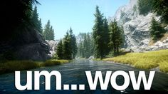 My copy of Skyrim would usually fall over once I started running more than, say, mods at once. So I've got no idea how modder Unreal has managed to get around 100 mods running at once. I'm just going to assume sorcery. Skyrim Pc, Skyrim Mods, Beautiful Moments, Life Is Beautiful, Game Environment, Elder Scrolls, Fantasy World, Mythical Creatures, Beauty Photography