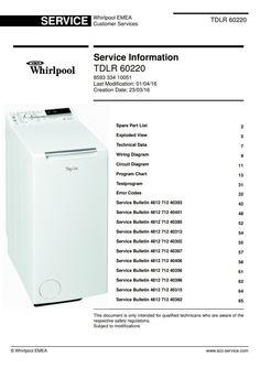 Original Whirlpool TDLR 70230 washing machine service and