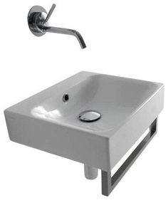 "View the WS Bath Collections Cento 3539 15-11/16"" Ceramic Wall Mounted / Vessel Bathroom Sink with Overflow at FaucetDirect.com."