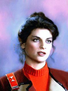 Star Trek II: Lieutenant Saavik by Kaz Film Star Trek, Star Trek Ii, Star Wars, Star Trek Movies, Kirstie Alley, Star Trek Images, Star Trek Original Series, Star Trek Characters, Starship Enterprise