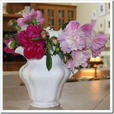 bouquet from my garden  http://fishtailcottage.blogspot.com/2013/06/this-week-in-garden-61213.html