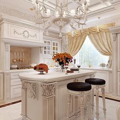 Kitchen Pantry Design, Luxury Kitchen Design, Kitchen Sets, Home Decor Kitchen, Country Kitchen, Elegant Kitchens, Luxury Kitchens, Beautiful Kitchens, Home Kitchens