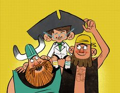Image result for Pirate, Viking & Scientist