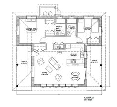 1233 sq ft straw bale houseplan with 2 bedrooms, 2 bath and 2 covered porches.