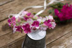 Hair Flowers – Flower head wreath,floral head wreath,flower crown – a unique…