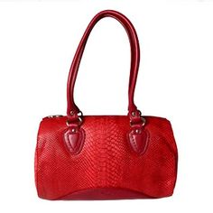 POURCHET - Sac Shopping Cuir Carmin