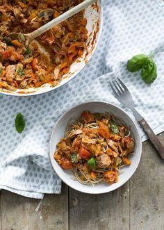Spaghetti tonijn bolognese recept
