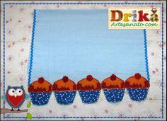 Patchwork moldes cupcake para patch aplique - Drika Artesanato - O seu Blog de Artesanato.
