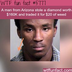 Thief from Arizona sells a diamond worth $160k for $20 - WTF fun facts