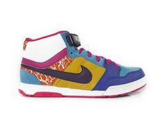 Nike Womens Air Morgan Mid Size 9.5 (Scuba Blue / Grand Purple) 318886-451