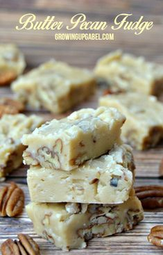 Butter Pecan Fudge Recipe is easy to make with basic ingredients and takes only about 15 minutes to make! It's a delicious, caramel, nutty delight!