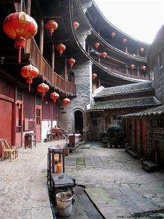 The Tulous of Fujian Province, China. Chinese Buildings, Ancient Chinese Architecture, China Architecture, Architecture Design, Architecture Office, Futuristic Architecture, Beijing, Community Housing, Zaha Hadid Architects