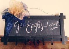 / High School Auction Basket -- Hanging Chalkboard Memo Board