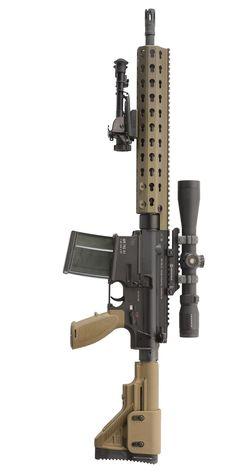 MR762A1 Long Rifle Package II Assault Weapon, Lethal Weapon, Assault Rifle, Airsoft Guns, Weapons Guns, Guns And Ammo, Big Guns, Cool Guns, Molle Gear