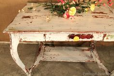 Miss Mustard Seeds Chippy Furniture | My Quirky Table Painted with Miss Mustard Seed's Milk Paint ...