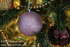 Glittery Radiant Orchid Christmas bauble - #coloroftheyear