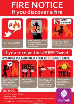 Fire Safety Notice for Social Media Fanatics Fire Safety Poster, Health And Safety Poster, Fire Safety Tips, Safety Posters, Four Square, Fire Training, Industrial Safety, Preschool Writing, Fire Prevention