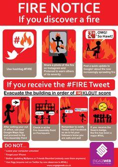 Fire Safety Notice for Social Media Fanatics