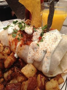 Breakfast burrito from Sunny Point Cafe in Asheville, NC