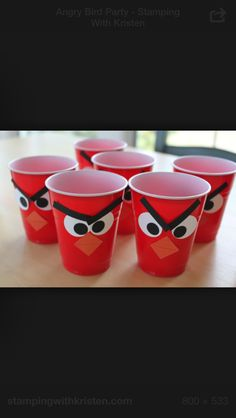 Angry bird party cups