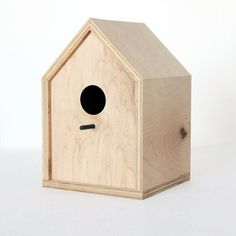 Plywood Birdhaus at Etsy store Oh Dier Living, Minnesota.