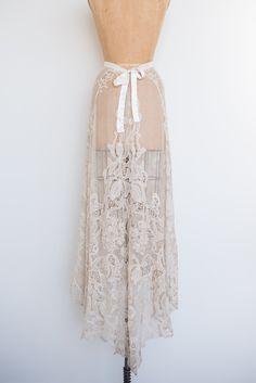 Edwardian Lace Skirt - S