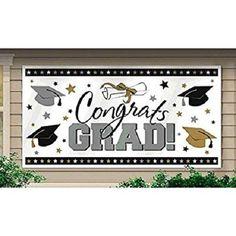 Large Graduation Banner Party Decoration Wall Cover Congratulations Graduate