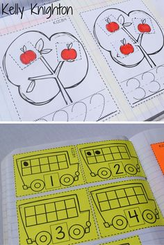 August / September Back to School Interactive Math Journals for Kindergarten! Help your students develop a strong number sense (1-10) with these fun interactive math journals!