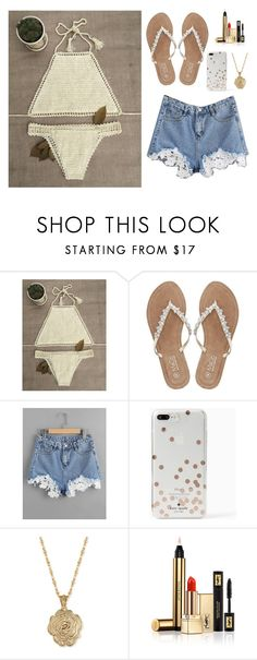 """""""Untitled #4725"""" by if-i-were-famous1 ❤ liked on Polyvore featuring M&Co, Kate Spade, 2028 and Yves Saint Laurent"""