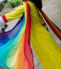 Rainbow dupatta