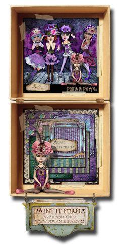 Paint it Purple Decorative Boxes, Purple, Frame, Painting, Home Decor, Picture Frame, Painting Art, A Frame, Interior Design