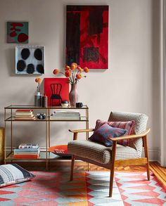 Decorate your home in bold color + modern patterns. Intricate woven textiles designed by Margo Selby for west elm add bright pops of color with pillows, rugs, upholstery + more.