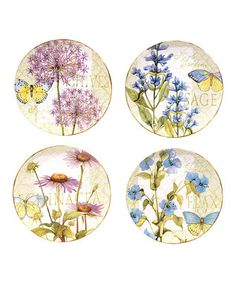 Herb Garden Dinner Plate - Set of Four